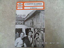 CARTE FICHE CINEMA 1963 LE QUARTIER DU CORBEAU Thommy Berggren Keve Hjelm