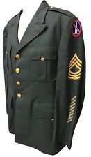 Original US Army Vietnam USARV Uniform Jacket 1961 Dated Patches Size 43R