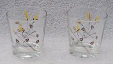 Vintage Wheat Liquor Low Ball Shot Glasses Home Bar Barware Set of 2