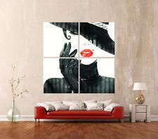EL LOOK Abstracto Cuadro Lienzo Pared Negro Blanco Rojo Impresión artística
