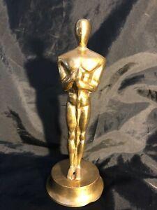 "Vintage Academy Awards Oscar Replica Solid Brass 7.5"""