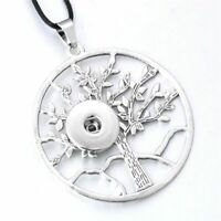 Snap Jewelry Button Fits 18mm Metal Pendant Necklace Tree Charm Ginger Style Diy