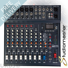 Studiomaster CLUB XS 10 Channel Mixer Desk USB SD Recorder Bluetooth Playback DJ