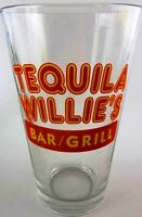 Libbey Glass Bar & Grill TEQUILA WILLIE'S Pint Beer Glass Drinking Souvenir