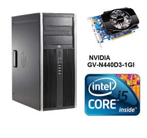 HP 8200 I5 2400 QuadCore 3.1GHz NVIDIA GV-N440  8GB 500GB SATA Win10 WIFI HDMI