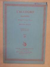 VOCAL SCORE Handel L ALLEGRO ARR. pari voci Imogen Holst, Curwen