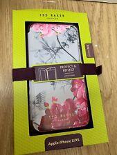 Ted Baker ® Para Mujer De Lujo Espejo Folio Estuche Rosa Suave Para//XS-Sharita iPhone X