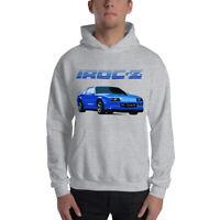 1980's Chevrolet Camaro Blue IROC-Z Unisex Hoodie