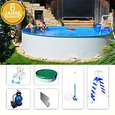 Stahlwandpool Set Fun-Zon 3,50 x 1,20m Aufstellpool mit Sandfilter, Poolsauger