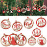 3D Wooden Christmas Tree Hanging Pendants Xmas Party Home Decorations Ornaments