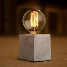 Béton DEL Cube Lampe Base Pied de lampe de table Industrial Light Stand Bureau Chevet