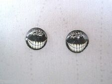 We're All Mad Here 14mm Domed Glass Stud Earrings SP Gift Alice in Wonderland