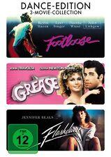 DANCE-EDITION (FOOTLOOSE, FLASHDANCE, GREASE) 3 DVD NEU