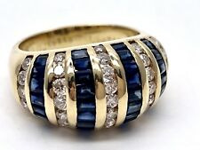 18k Gold 2ctw Diamond And 2.5 Ctw Sapphire Hollywood Jewels Signed Ring $5400