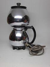 Sunbeam Coffeemaster Model C30 C20 Chrome Vacuum CoffeeMaker VTG MidCentury Cord