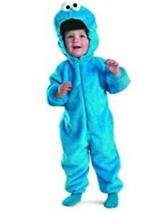 Sesame Street Cookie Monster Deluxe Two-Sided Plush Jumpsuit Costume 12-18 Month