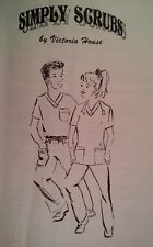 Simply Scrubs Victoria House Unisex top & pant Sewing  Pattern XS-XL new uncut