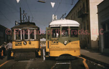 Los Angeles Transit Lines LATL Electric Streetcar #312 DUPE Slide 1st & Vermont