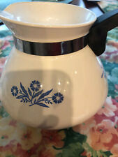 Corning Ware blue cornflower 6 cup teapot. Early1970s