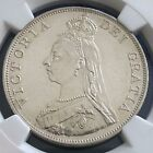 1887 Great Britain Double Florin Arabic 1 KM# 763 NGC MS UNC Silver Coin