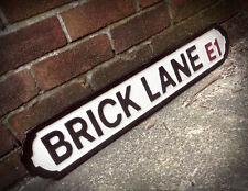Brick Lane Old Fashioned Wood London Vintage Street Sign Market Road Sign