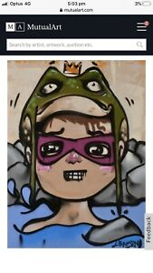 FROGBOY (Lachie Hansen) Original Artwork On Canvas Street Art Banksy Style