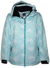 New Pulse Women's Plus Size Insulated Snow Ski 2208 Jacket Honeycomb Aqua 1X