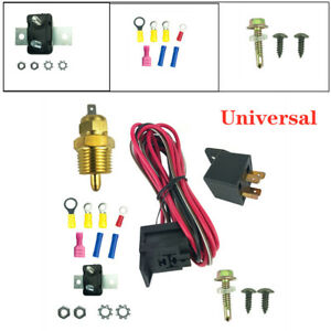 Universal Electric Fan Wiring Install Kit Thermostat 50 Amp Relay 185° SBC BBC