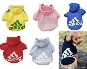 Adidog Dog Hoodie 2 Legs Puppy Hoodie Coat Sweatshirt Sports Outfits Clothes Pet