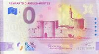 BILLET 0  EURO REMPARTS D'AIGUES MORTES ANNIVERSARY FRANCE  2020   NUMERO DIVERS