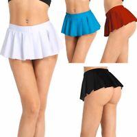 Sexy Mini Rock Schulmädchen Skirt Damen Kurze Minirock Röcke Dessous Nachtwäsche