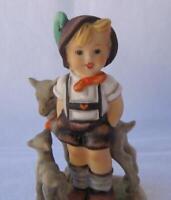 M I Hummel Goebel Porcelain Figurine Little Goat Herder Germany Mold 200 TMK 5