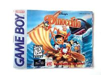 RARE Pinocchio Original Gameboy Instruction Booklet Book Manual