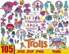 Trolls Bundle SVG, Trolls svg, Trolls clip art, SVG, PNG, DXF