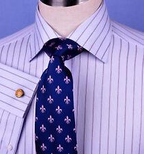 Mens Blue Striped Dress Shirt Formal Business Designer Stripes Stylish Fashion