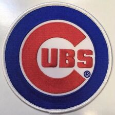 """Chicago Cubs MLB primary logo jersey sleeve Collector Patch 4 5/8"""" dia. iron-on"""