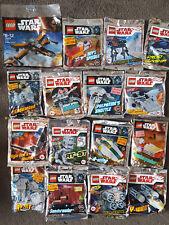 Lot of 15 Limited Edition Star Wars Lego Foil Packs + 1 polybag - BNSIB