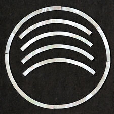 (THREE) Ukulele Rosettes, Tenor, Mother of Pearl, MOP, Shell, Inlay, 3mm