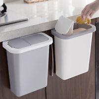 New Wall Mounted Folding Waste Bin Kitchen Cabinet Door Hanging Trash Can Bin