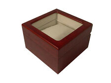 of wood with viewing window - Mahagoni 5- Piece ; High quality Watch box made