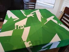 Large Heineken Wall Hangings Or A Table Cloth no tags never used. Silk.
