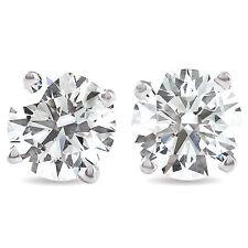 1.50Ct corte redondo Natural Diamante Pendientes con Pasador En Oro Blanco O Amarillo 14K