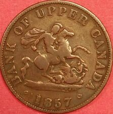 1857 Bank of Upper Canada Half Penny ID #88-46