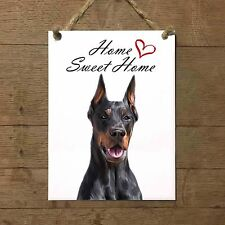 DOBERMANN Home Sweet home mod3 Targa cane piastrella ceramic tile dog