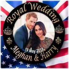 PRINCE HARRY~MEGHAN MARKLE BUTTON BADGE~ STUNNING ROYAL WEDDING SOUVENIR