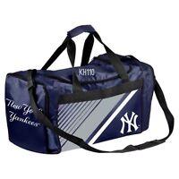 MLB New York Yankees Gym Travel Luggage Striped Core Duffel Bag