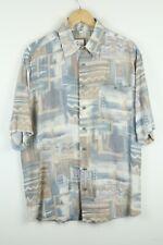 Vintage Mens 90S abstract crazy print festival shirt SIZE XL  (A5054)