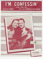 I'M CONFESSIN' 1937 Les Paul & Mary Ford Vintage Sheet Music