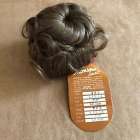 8 - 9 Lydia Monique Light Brown wig pony bun hair Doll making parts 233 nwob