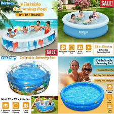 Inflatable Family Swimming Pool Summer Lounge Kids Child Water Play Fun Backyard